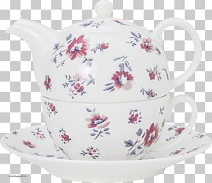 Kettle Coffee Cup Teapot Teacup Saucer PNG