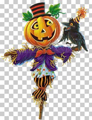 Scarecrow Pumpkin Halloween PNG