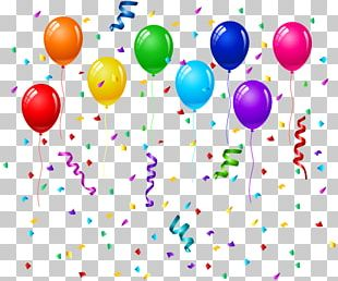 Birthday Cake Balloon Party Greeting Card PNG