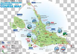 Miyako-jima STRONGMAN All Japan Triathlon Miyakojima Just Run! Map PNG