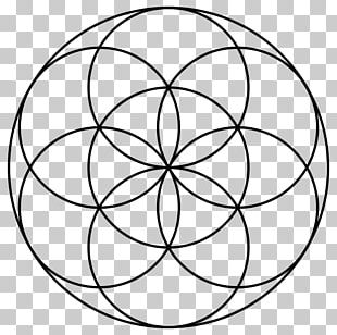 Sacred Geometry Overlapping Circles Grid Vesica Piscis PNG