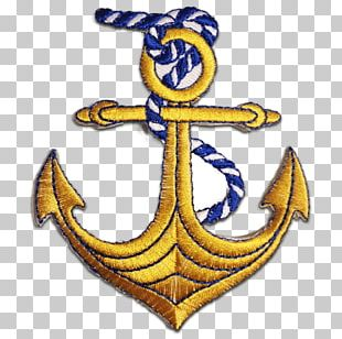 Anchor Embroidered Patch Embroidery Sewing Iron-on PNG