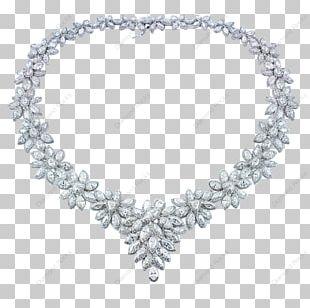 Necklace Earring Diamond Cut Jewellery PNG