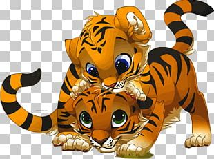 Tiger Cat Drawing Cartoon PNG