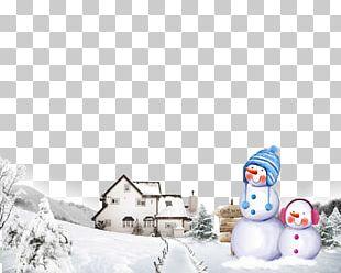 Igloo Winter Snowman PNG