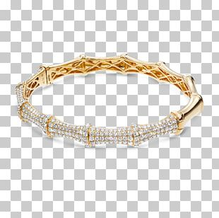 Bracelet Jewellery Bangle Gold Cubic Zirconia PNG