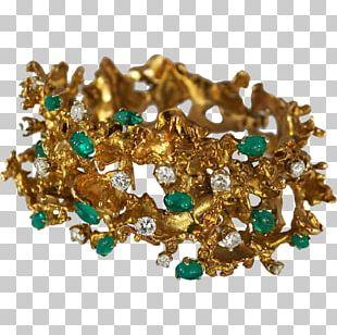 Gold Earring Jewellery Gemstone Emerald PNG