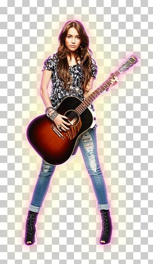 Miley Stewart Acoustic Guitar Musician String Instruments PNG
