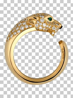 Cartier Jewellery Gold Diamond Ring PNG