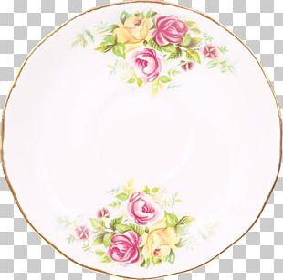 Plate Rose Family Platter Floral Design Porcelain PNG