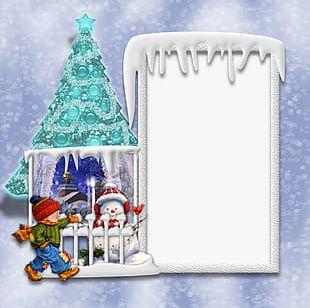 Snow Christmas Frame PNG