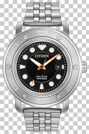 Eco-Drive Citizen Holdings Diving Watch Bracelet PNG