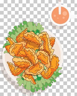 Fried Chicken Buffalo Wing Junk Food French Fries PNG