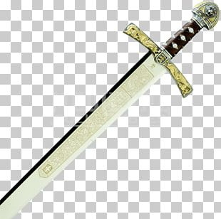 King Arthur Knightly Sword Middle Ages Excalibur PNG