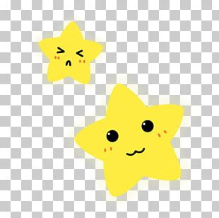 Star Yellow Pentagram Facial Expression PNG