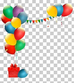 Toy Balloon Party Euclidean Confetti Illustration PNG