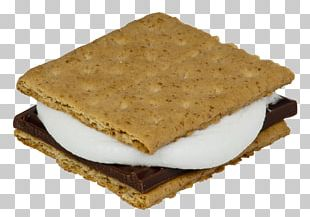 S'more Graham Cracker Marshmallow Chocolate Campfire PNG