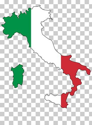 Flag Of Italy Italian Cuisine Map PNG