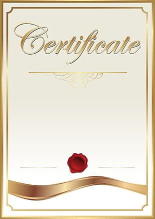 Template Academic Certificate PNG