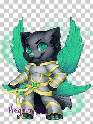 Cat Horse Cartoon Green PNG