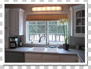 Kitchen Cabinet Countertop Window Covering PNG