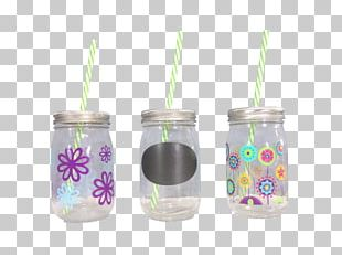Mason Jar Plastic Artificial Flower Glass Lid PNG