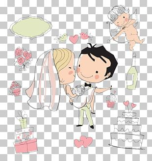 Wedding Invitation Drawing Bride PNG