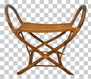Furniture Bench Chair Wicker Seat PNG