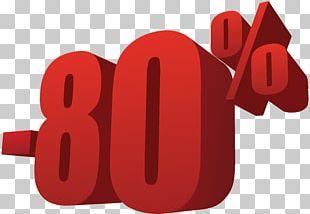 80% Off Sale Transparent PNG