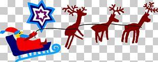 Reindeer Santa Claus Christmas PNG