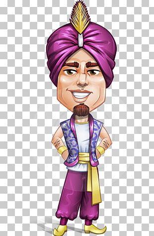 Cartoon Character Turban Robe PNG