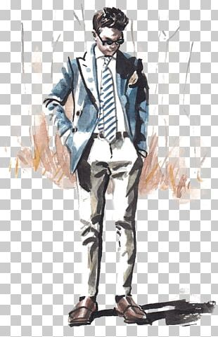 New York Fashion Week Suit Fashion Illustration Illustration PNG