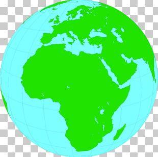 Europe Globe Blank Map PNG