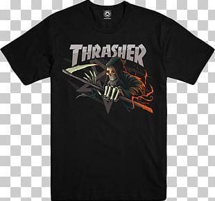 Thrasher T-shirt Skateboarding Magazine PNG