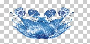 Water Ice Cube Drop PNG
