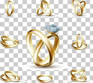 Wedding Ring Engagement Ring Stock Photography PNG