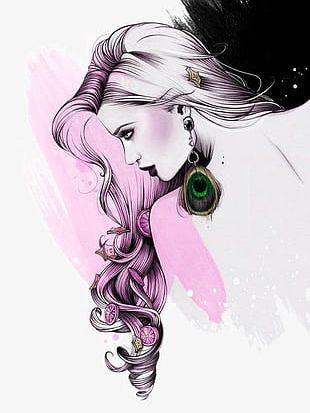 Beautiful Girl Illustration PNG