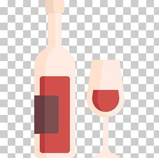 Red Wine Wine Glass Stemware Bottle PNG