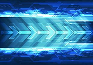 Science And Technology Arrow Blue Light Effect PNG