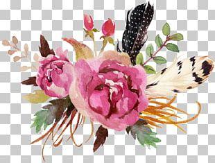 Watercolour Flowers Watercolor Painting Floral Design Deer PNG