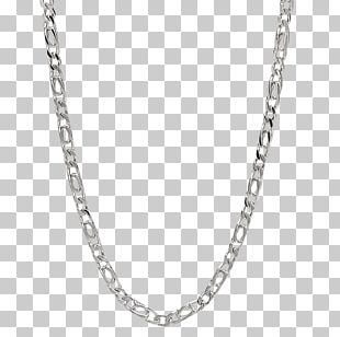 Figaro Chain Jewellery Chain Silver Necklace PNG
