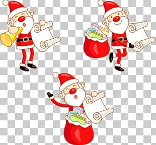 Santa Claus Cartoon Graphic Design Christmas PNG