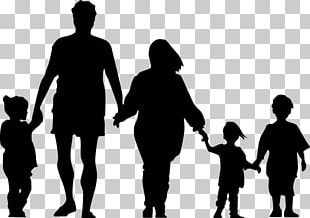 Family Silhouette Holding Hands PNG