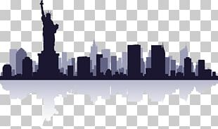 Statue Of Liberty New City Skyline PNG