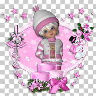 Floral Design Christmas Ornament Pink M Character PNG