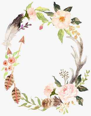Hand-painted Watercolor Wreath PNG