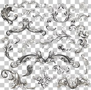 Vintage Clothing Ornament Filigree PNG