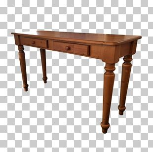 Table Desk Angle Wood Stain PNG
