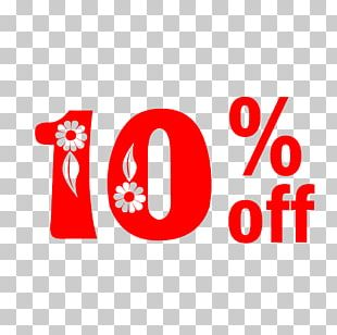 Spring Sale 10% Off Discount Tag. PNG