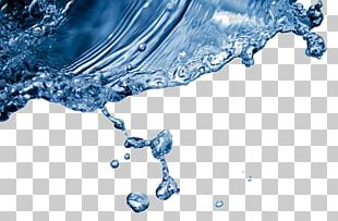 Purified Water Drop Splash Liquid PNG